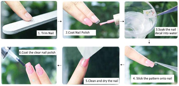 Custom Nail Art Waterslide Nail Decals